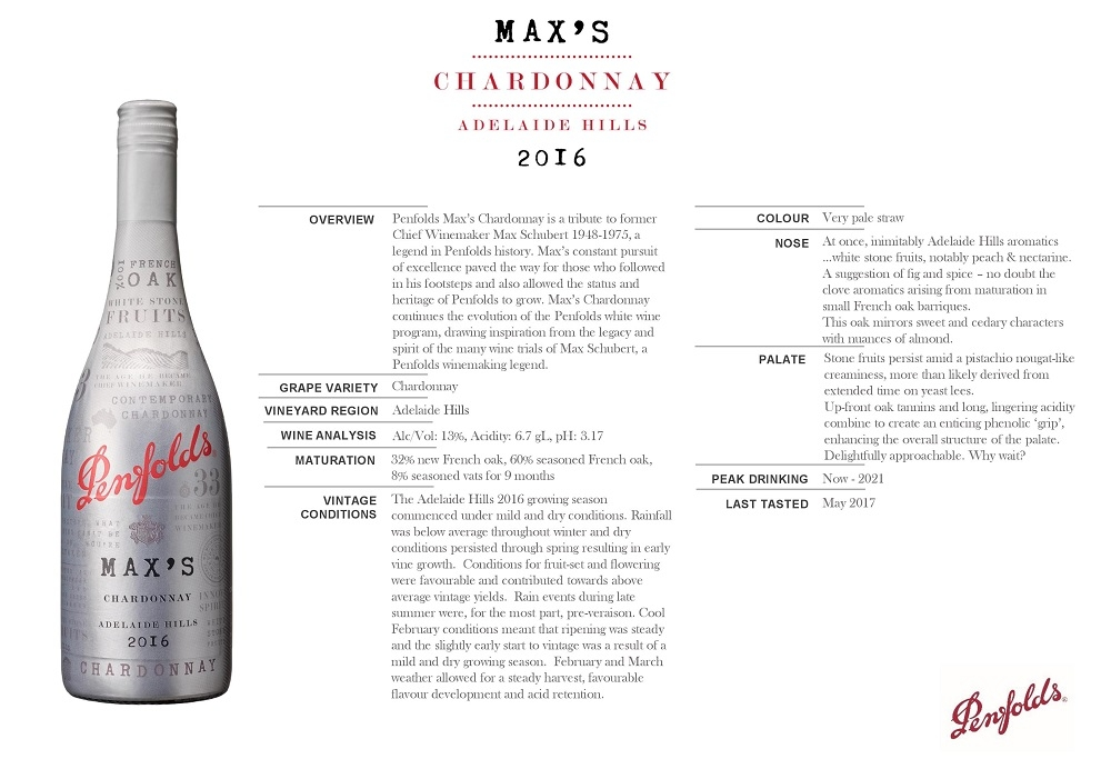 Penfolds Max's Chardonnay is a tribute to former