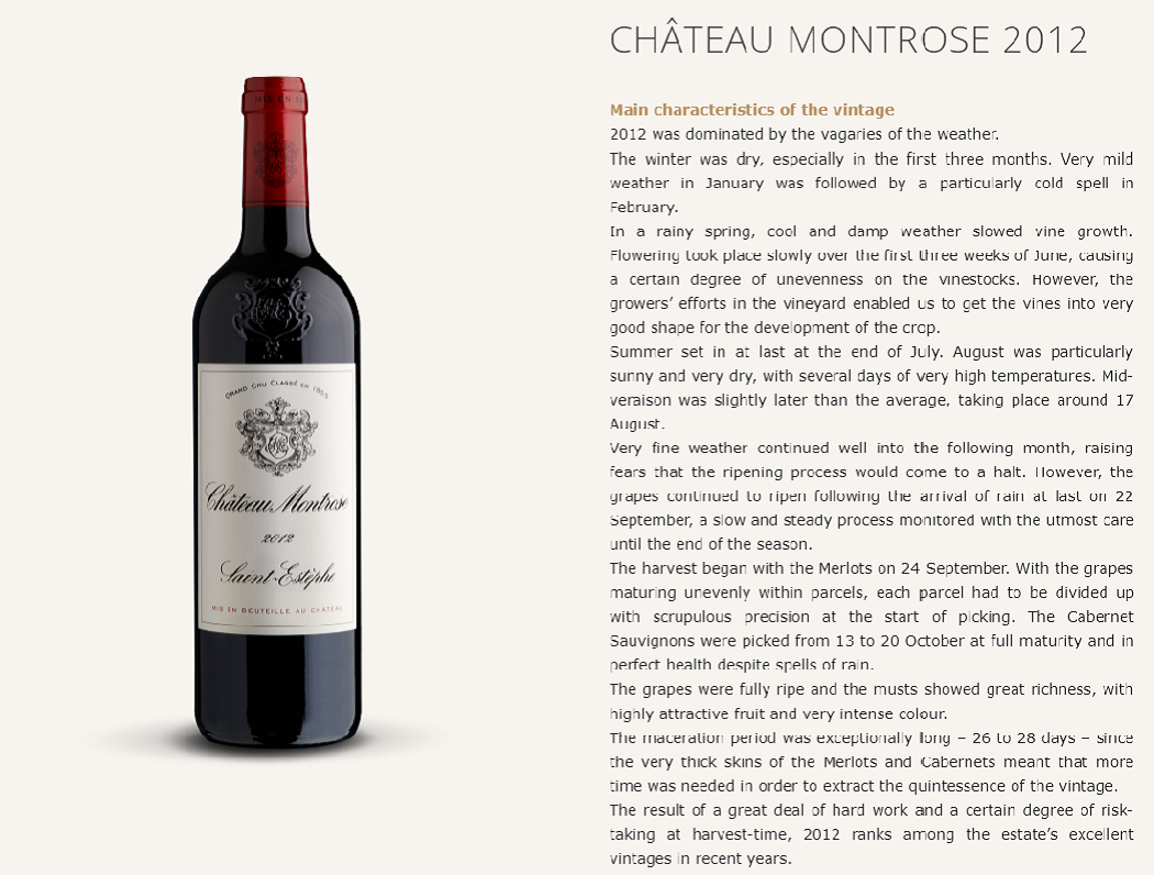 CHÂTEAU MONTROSE 2012